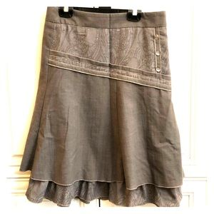 NWT (bought in France) taupe skirt